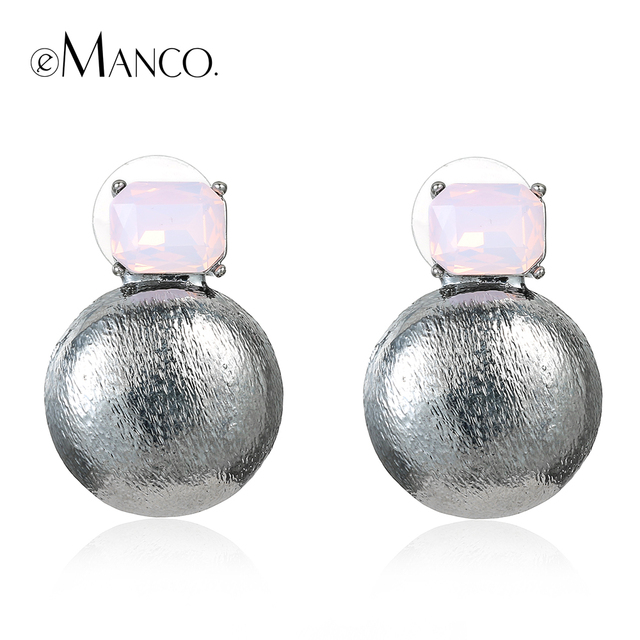 //Zinc alloy earring geometric opal earrings// 2016 crystal ear accessories women stud earring small cute earrings 2016 eManco