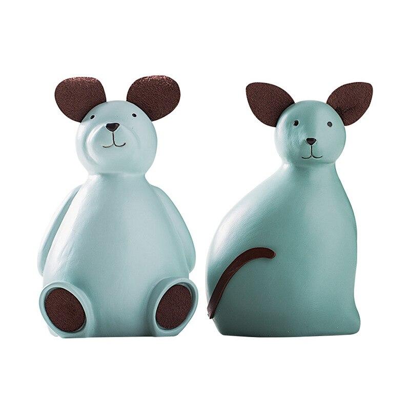 Simulation Animal ours tirelire Statue Araiguma coquin souris résine artisanat maison Design d'intérieur cadeau L2945