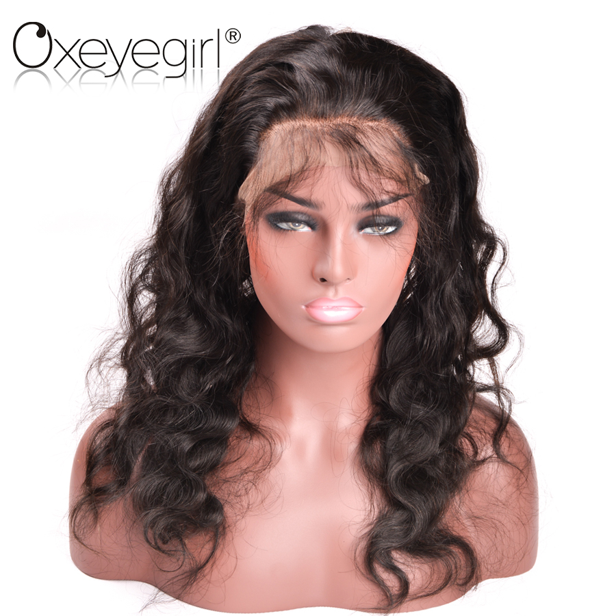 Oxeye girl 22.5x5x2 Pre Plucked 360 Lace Frontal Closure With Baby Hair Brazilian Body Wave Remy Human Hair Bundles Free Part ...