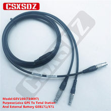 SZRMCC 734698 GEV187 5 Pin DB9 RS232 Data Power Cable for Leica TPS1200 TS09 DNA Total Station to PC and GEB70 71 GEB171 Battery