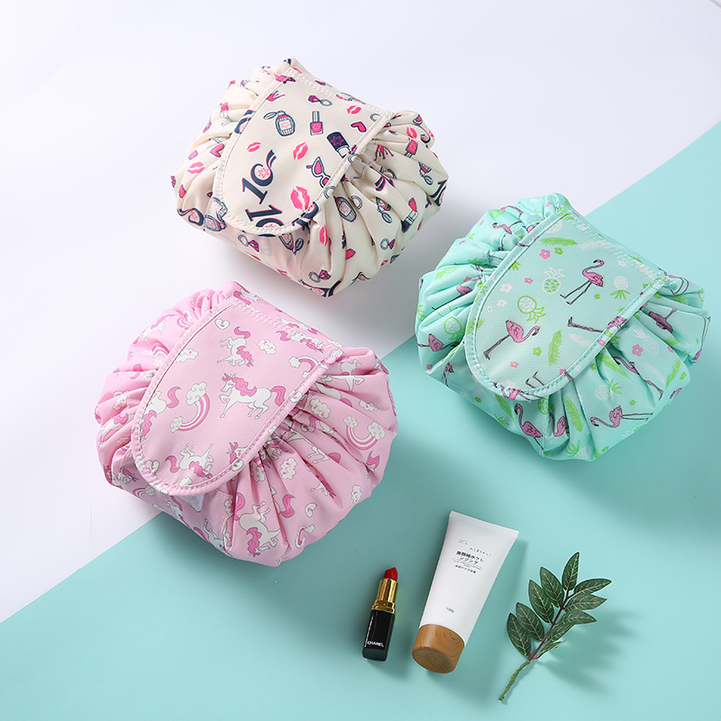 Large capacity magic pouch With patterns women cosmetic font b drawstring b font font b bag