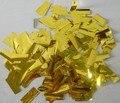 Конфетти для конфетти машина золотой и серебряный алюминиевой фольги
