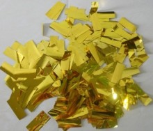 confetti for the confetti machine  golden and silver  aluminum foil