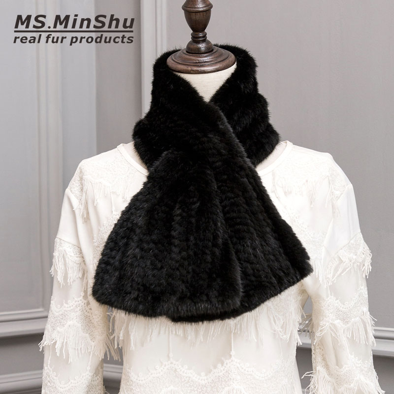 real fur scarf