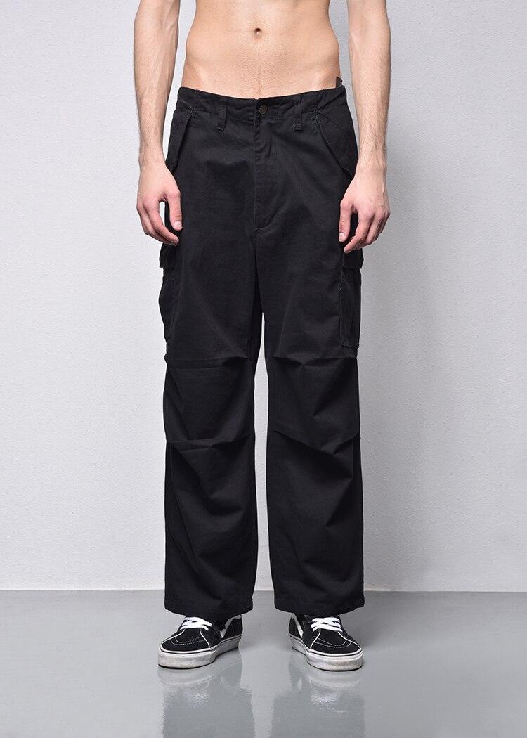 Alta Negro 2018 Otoño Primavera Negro Colores Militar Pantalones Calidad Cargo Hombres Suelta verde Verde Recta Sólidos Casual Moda wr47rqnBW0