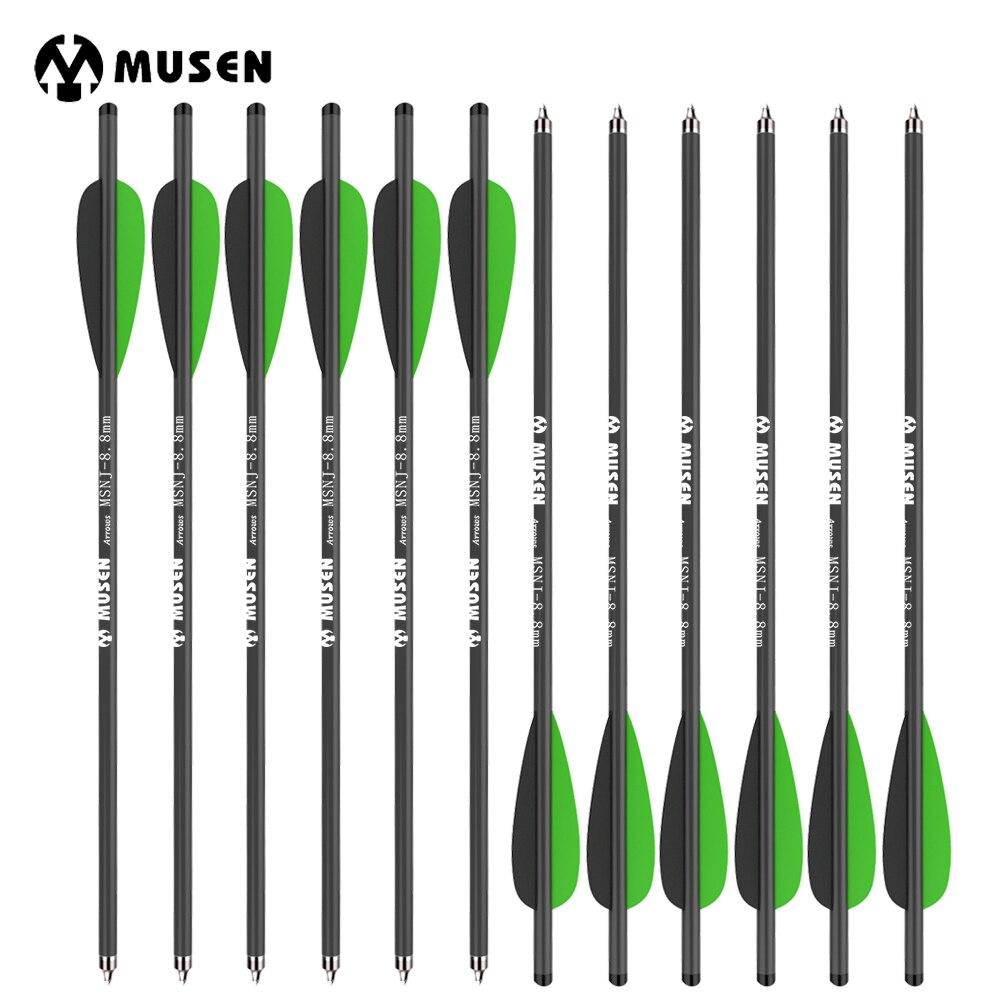 12/24pcs 17 Crossbow Carbon Arrow Target Arrows with 125 Grain Crossbow Arrow Broadheads 2 Green 1 Black Feather Hunting green arrow vol 2 island of scars rebirth