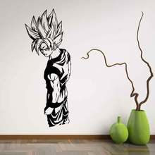 Cartoon Dragon Ball Super Saiyan vinilo decalque de la pared inicio decoración sala de estar DIY Art Mural papel pintado desmontable pared pegatinas