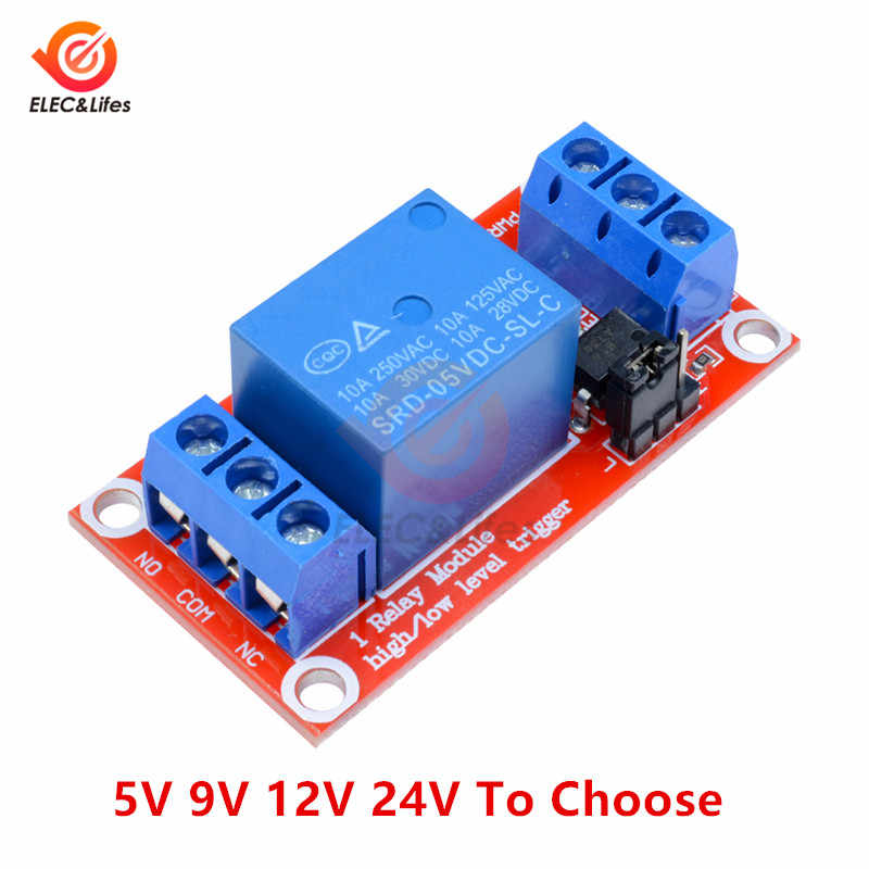 1 Channel Relay Module 5V 9V 12V 24V high and low level trigger relay control switch with optocoupler module