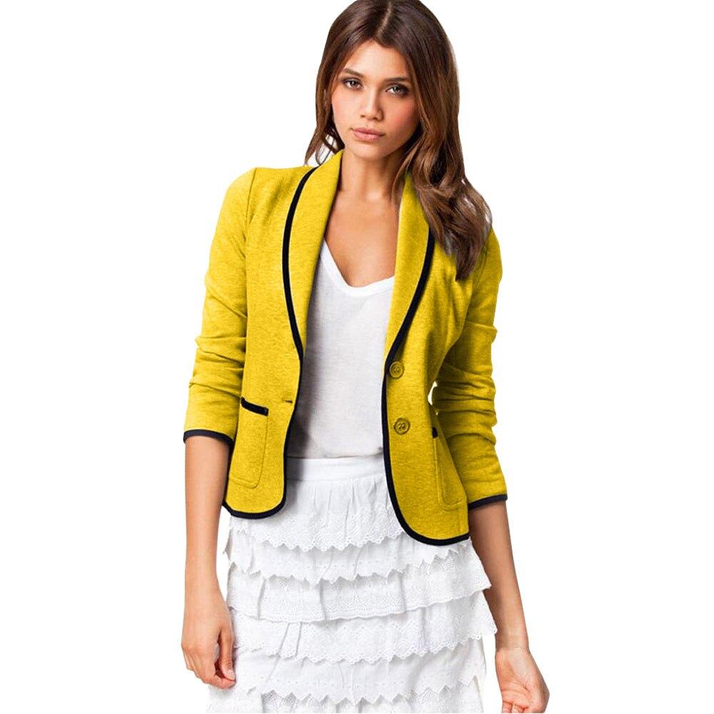 Winter Women Jacket Office Lady Coat Blazer Suit Long Sleeve Tops Slim Jacket Outwear Winterwear