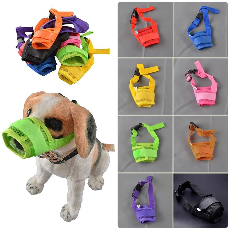 Adjustable Dog Muzzle Mask Mesh Dog Mouth Muzzle Prevent Bark Bite Mesh Nylon Safety Supply for Medium Pet Mesh Stop Chew