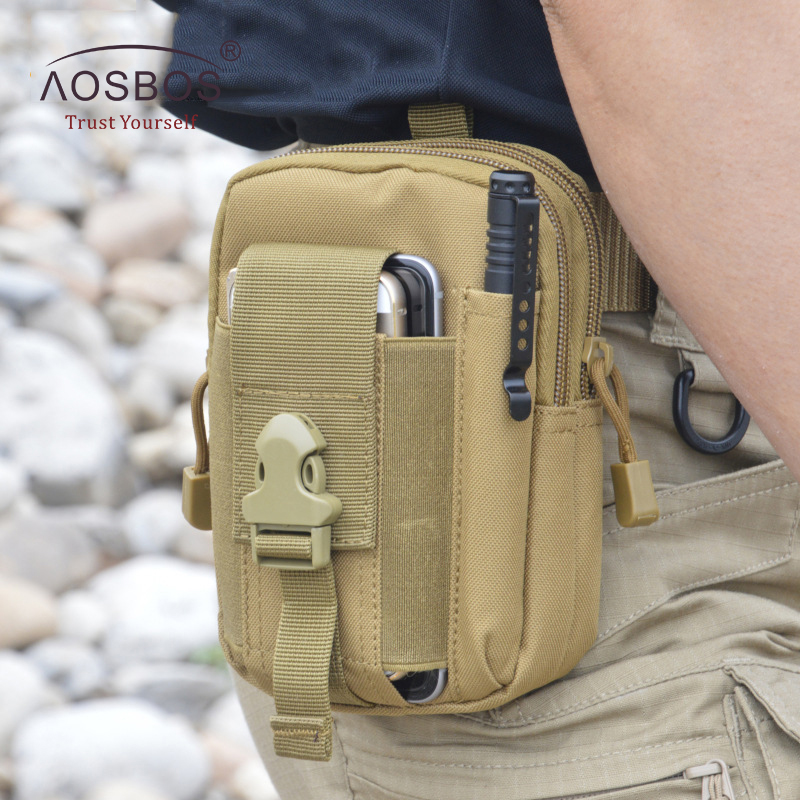 Waterproof Running Waist Bag Men Sport Waist Pack Durable Running Belt Tactical Pouch Outdoor Hiking Bum Bag Free Size Leg Bag