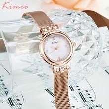KIMIO Arc Unique Watch Women Retro Milanese Mesh Bracelet Stainless Steel Band Luxury Brand Watches 2018 Diamond