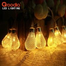 4M drops Fairy light 40 LEDs AA Battery LED string lights Metal Christmas Lights wedding party decotation natal lumineuse led