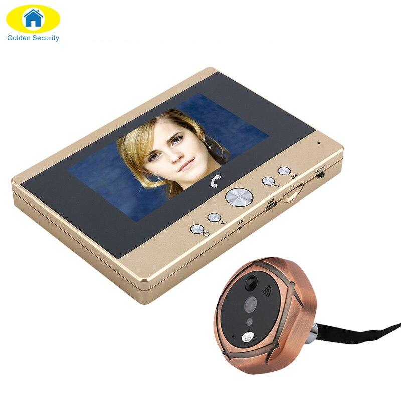 Экран TFT P 4,3 720 цифровой домофон глазок двери камера ПИР обнаружения движения дверные звонки 160 градусов широкий формат ИК ночь