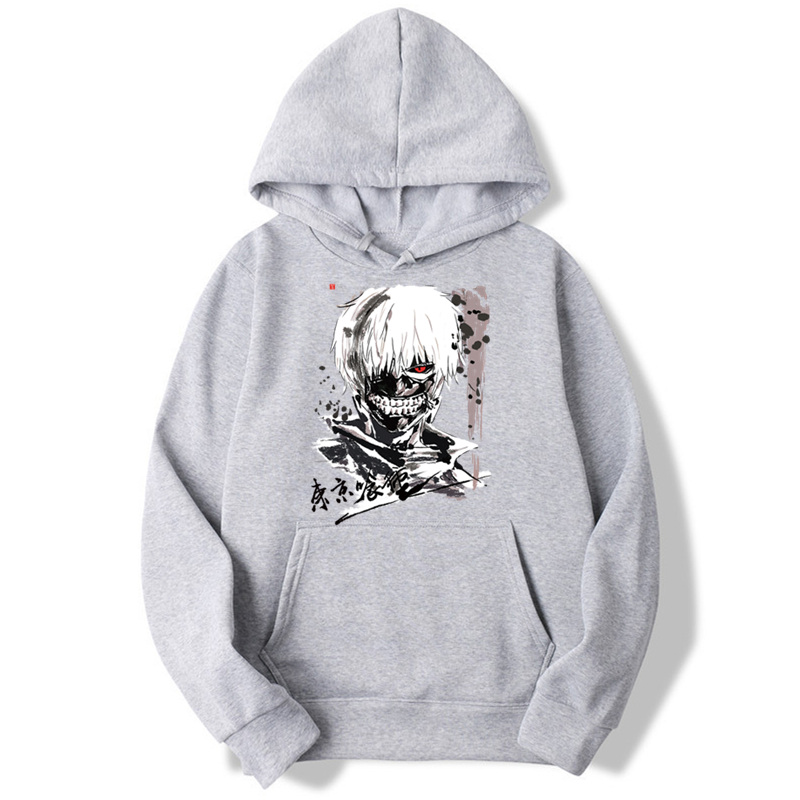 Asian Size Tokyo Ghoul Hooded Boys Hoodies Sweatshirts Fashion For Men And Women Japanese Anime Classic MWT091