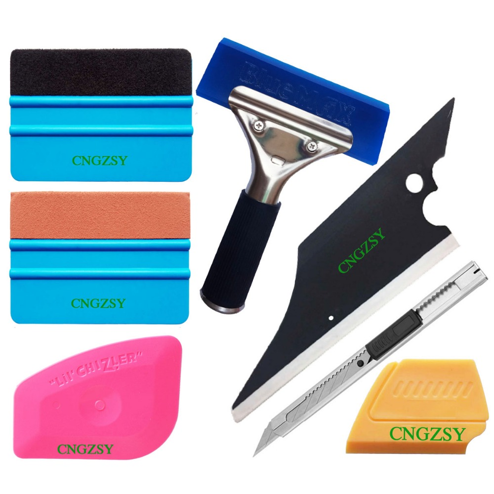 Vehicle Glass Protective Film Car Window Wrapping Tint Vinyl Installing Tool rubber Squeegee Beef tendon scraping art knife K62