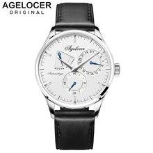 Бренд Agelocer фитнес часы оригинальный дизайн механические наручные часы мужские Часы повседневные модные часы запас мощности 42 часа 4101A1