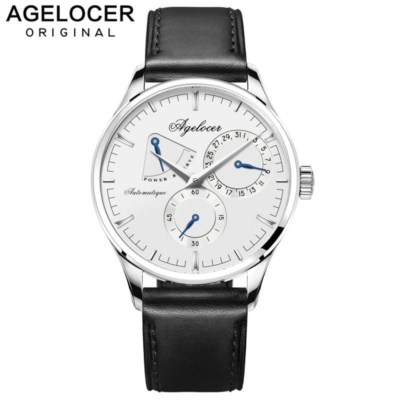 Agelocer marca de fitness assista projeto original relógio de pulso Masculino Relógio mecânico Moda Casual assistir reserva de energia 42 horas 4101A1