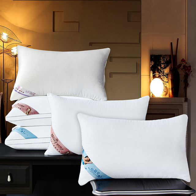 Goose Down Pillow/Neck Pillow with Goose Pillow-Filling and Silk Pillows Cover Fast Free Ship