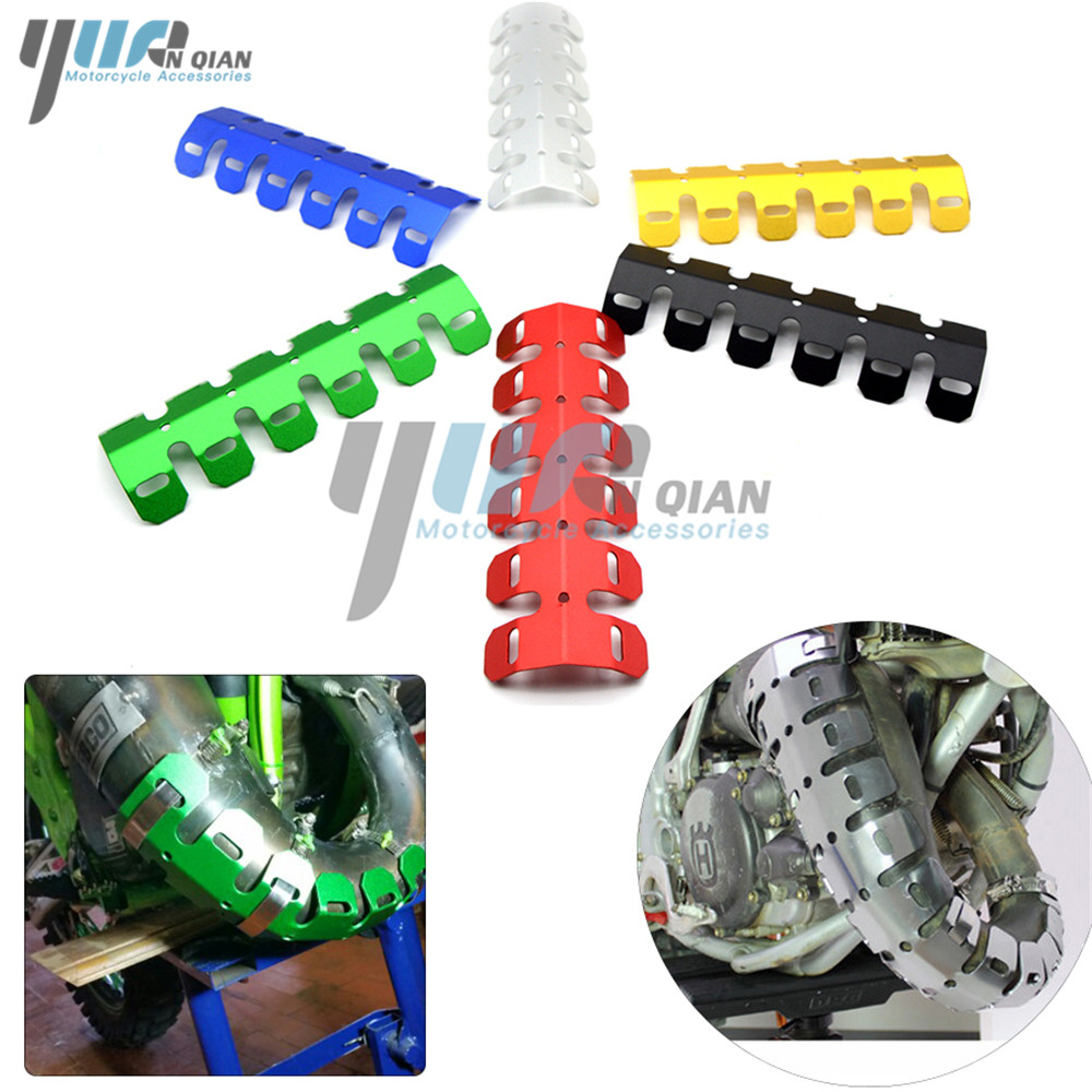 YUANQIAN Dirt Exhaust Muffler Pipe Leg Protector Moto Heat Shield Cover For Suzuki V-Strom 650 ABS <font><b>1000</b></font> ABS Adventure <font><b>DR</b></font>-Z400S image