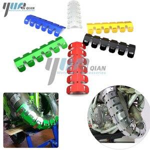 Image 2 - Yuanqian 범용 오토바이 배기 머플러 파이프 다리 보호대 열 방패 커버 bmw f650gs f800gs g650gs g65 r6 r3 r6