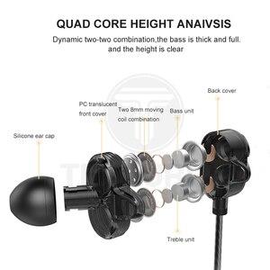 Image 2 - Tebaurry tb6 unidade dupla driver fone de ouvido com fio de alta fidelidade estéreo para o telefone iphone 4 alto falantes super bass fone com microfone
