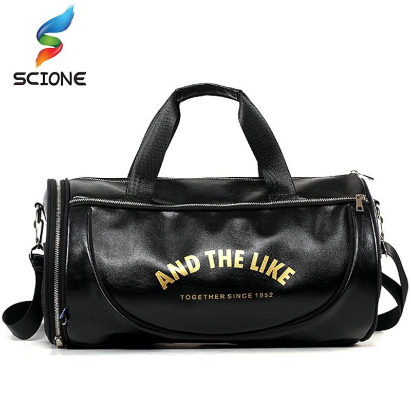 Top PU Outdoor Sports Gym Bag Men Women with Training Storage Shoes - Beg sukan - Foto 2