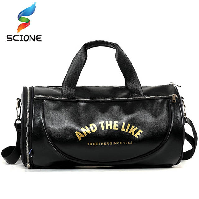 placeholder Top PU Outdoor Sports Gym Bag Men Women with Shoes Storage  Training Fitness Multifunction Shoulder Bags a4c2d8b20c