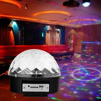 MP3 Magic Crystal Ball Disco Party Light Bar DJ Voice Control Flash Stage Lighting