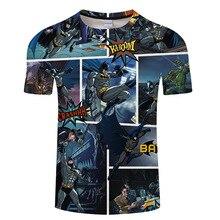 Super hero Batman Prints t shirt Men 3d Top Tee Funny t-shirt Short Sleeve Camiseta Halloween Streetwear Drop Ship ZOOTOP BEAR
