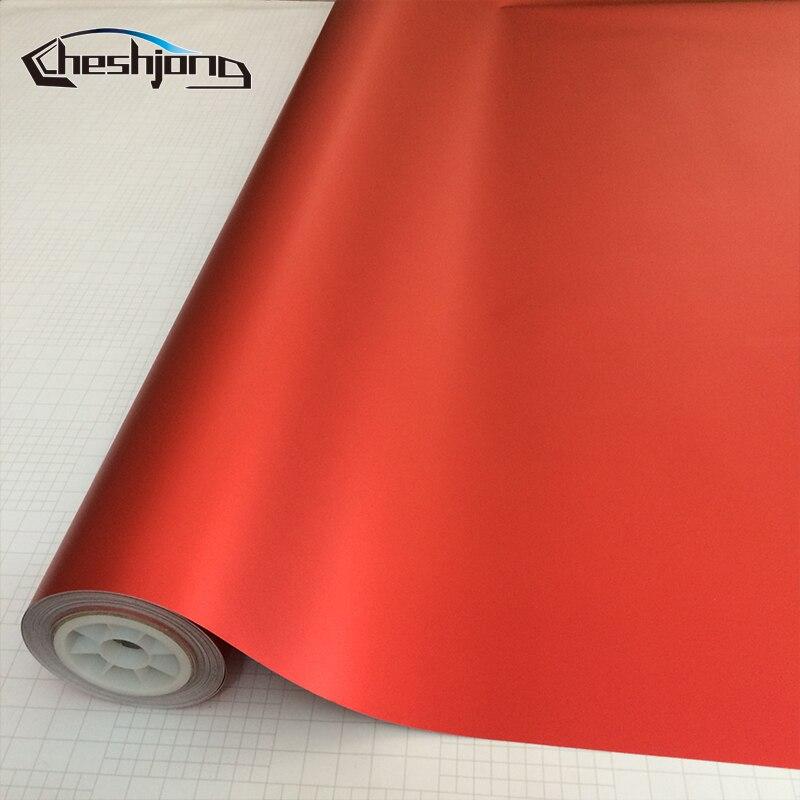 Red Matte Chrome Vinyl Film Red Metallic Matte Chrome