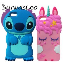 For Huawei Y5 2018 New 3D Soft Silicone Case Cute Cartoon Unicorn Original Phone Back Cover Skin Shell Prime