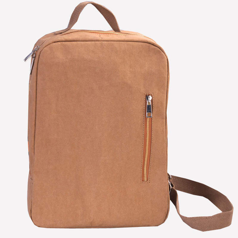 Fashion New Designer Eco friendly 14 Inch Women Laptop Backpack Washable Kraft Paper Parchment Casual Backpack Large Knapsack