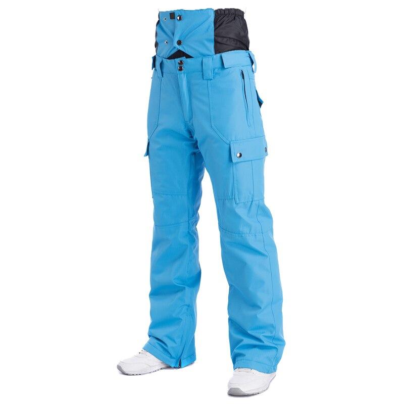 2018 Hiver Taille Haute Pantalon de Ski Hommes Coupe-Vent Imperméable Thermique Homme de Neige Pantalon Bib Jarretelles Mâle Snowboard Pantalon Vêtements de Ski - 3
