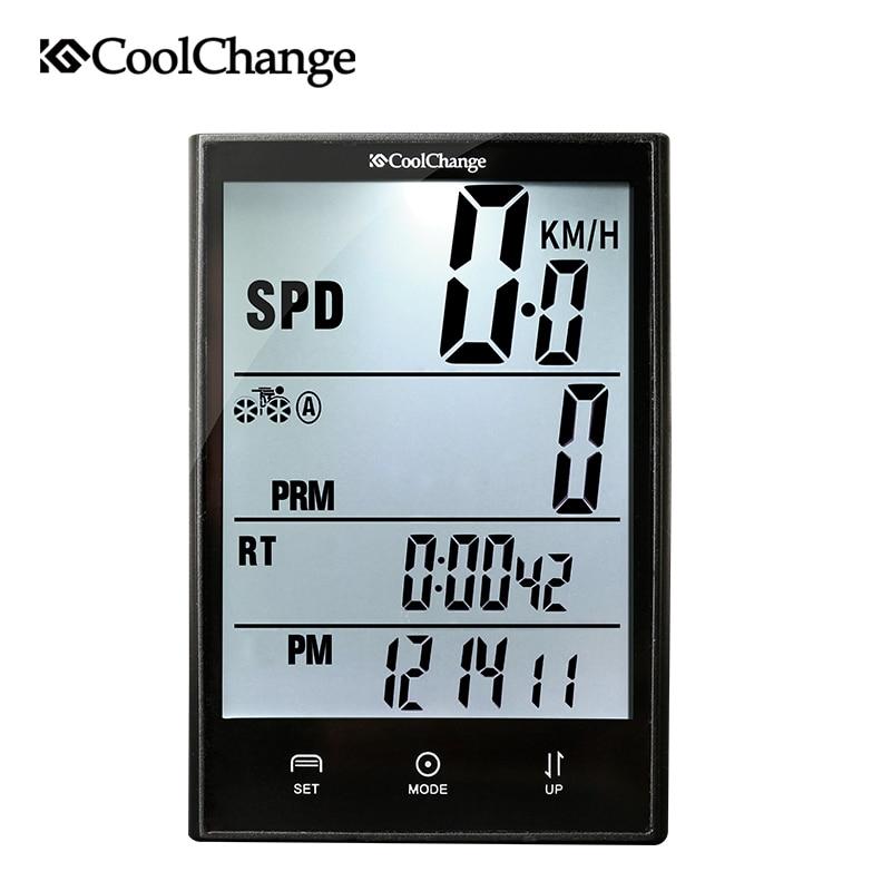 CoolChange Wireless Bike Computer Speedometer Odometer Rainproof Cycling Bicycle Computer Bike Measurable Temperature Stopwatch bogeer yt 833b bike computer