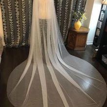 Обычная Свадебная накидка-Фата свадебная Наплечная ВУАЛЬ белый/слоновая кость Тюль Длинная накидка шаль белый/слоновая кость
