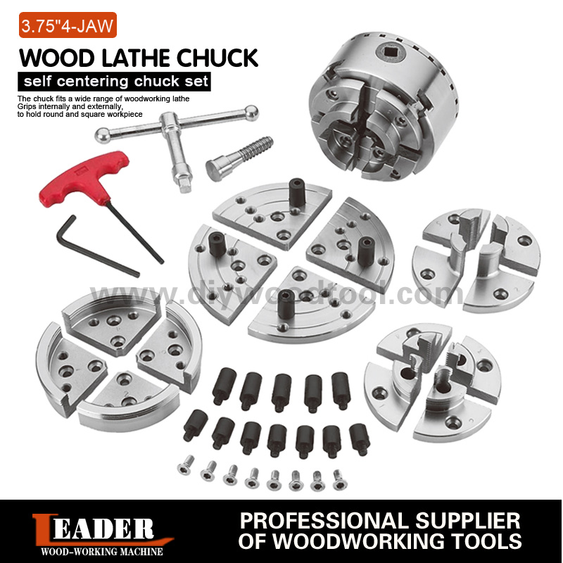 3.75inch 95mm 4-Jaws Wood Lathe Self-center Chuck Set Wood Turning Lathe accessories suits Scroll chuck 4 Number Of chucks3.75inch 95mm 4-Jaws Wood Lathe Self-center Chuck Set Wood Turning Lathe accessories suits Scroll chuck 4 Number Of chucks