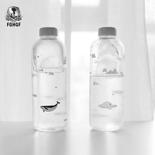 1000ml Ocean series Seal Whale Seal Glass Water Bottle with Sleeve Creative Sport Bottles Camping Bottle Tour Drinkware
