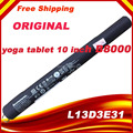 "3.75 V 9000 mah Nueva Batería Original Del Ordenador Portátil para YOGA 10 B8000 Tablet 10 ""batería L13D3E31 L13C3E31 Baterías Libres gratis"