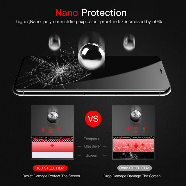 Suntaiho 10D protective glass for iPhone X XS 6 6S 7 8 plus glass screen protector for iPhone 7 6 X XR XS MAX screen protection 2