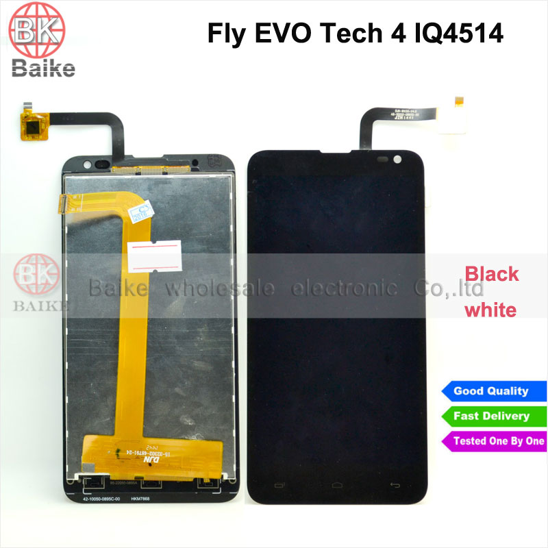 ФОТО For Fly EVO Tech 4 IQ4514 4514 Lcd Screen Display with Touch Screen Digitizer Assembly 100% Guarantee