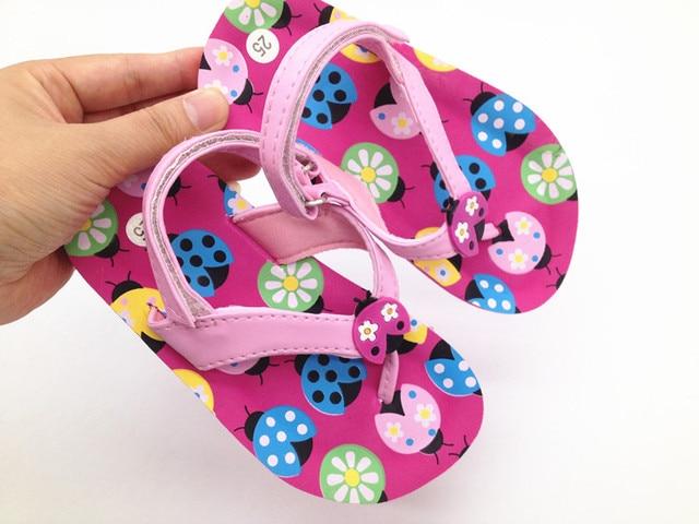 a2eb70426 Lovely Ladybird Kids Sandals Girls Flip Flop Casual Kids Beach Shoes  Princess Girls Sandals Fashion Children