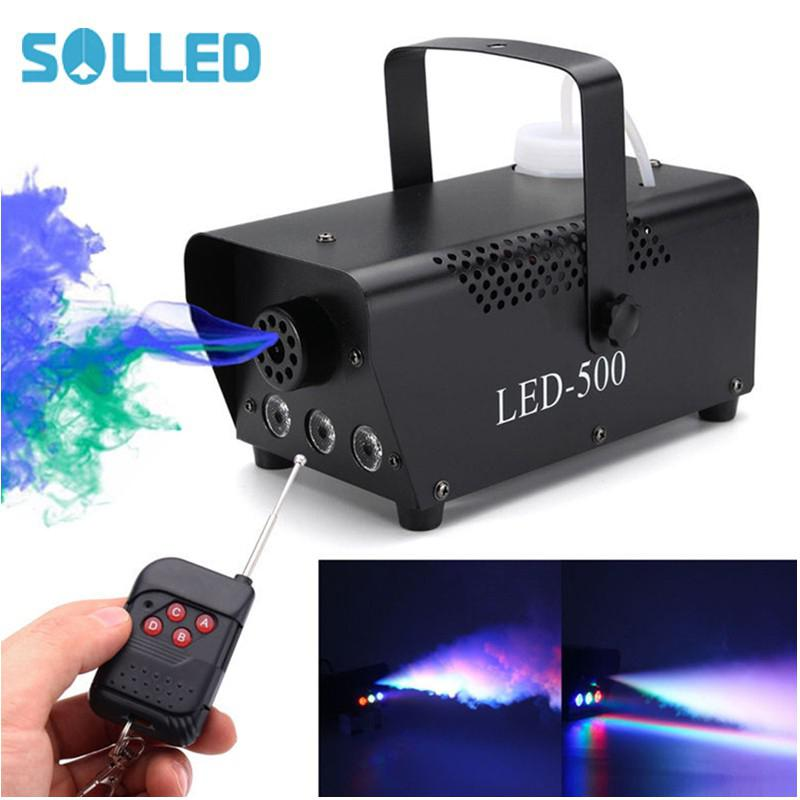 SOLLED 110-230V LED Air Column Stage Smoke Machine with Multi Colour цена