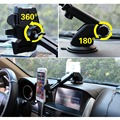360 Degrees Car Windshield Suction Cup Mount Retractable Car Phone Holder Stand for iPhone 5 5s 6 6s 7 Samsung S7 Smartphone GPS