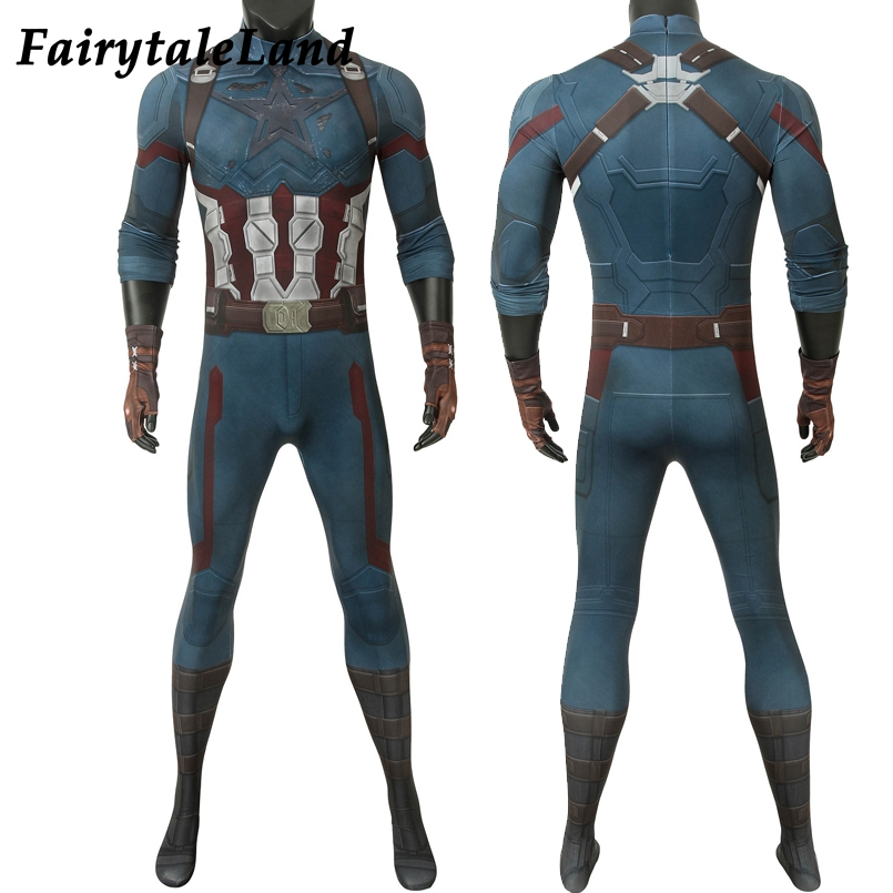 Avengers Infinity War Captain America Steve Rogers Cosplay Superhero Men Glove