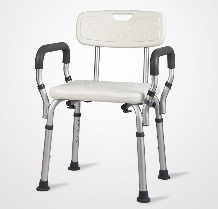 Фото Comfort Pregnant Woman Bathroom Chair Antiskid Shower Stool For the Old Man Professional Bath Chair Tool Free Installation