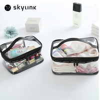 Portable Transparent PVC Travel Storage Bag Small Handbag Waterproof Makeup Bags Cases Travel Toiletry Bag Organizer