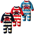 Invierno Espesar Ropa de Bebé de Algodón de Punto Suéter de Los Niños Y de Los Mamelucos Recién Nacido Mono Caliente Lindo Vehículo Tira Outwear
