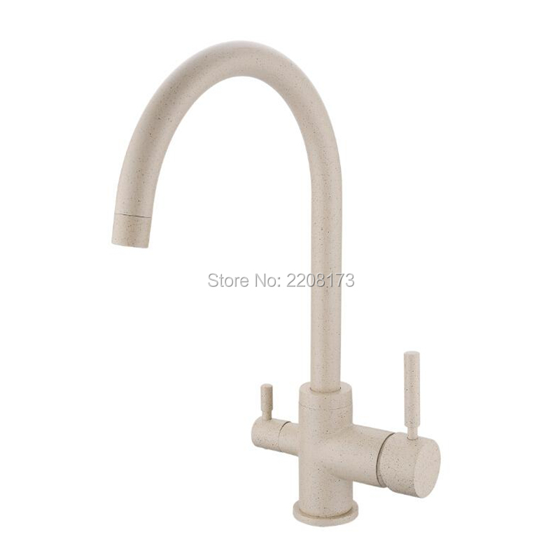 High Quality Osmosis Lead Free 3-Way Water Filter Tap Commercial Chrome Solid Brass Filter Taps, Elegant Granite & Chrome Silver