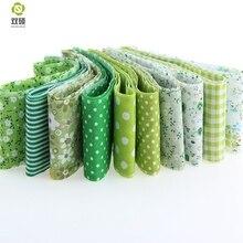 New7pcs зеленый цвет королевский коричневый тема хлопчатобумажная ткань полосы стегальные джелли ролл пэчворка ремесел для DIY швейных игрушки
